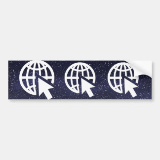 Earth Connects Graphic Bumper Sticker