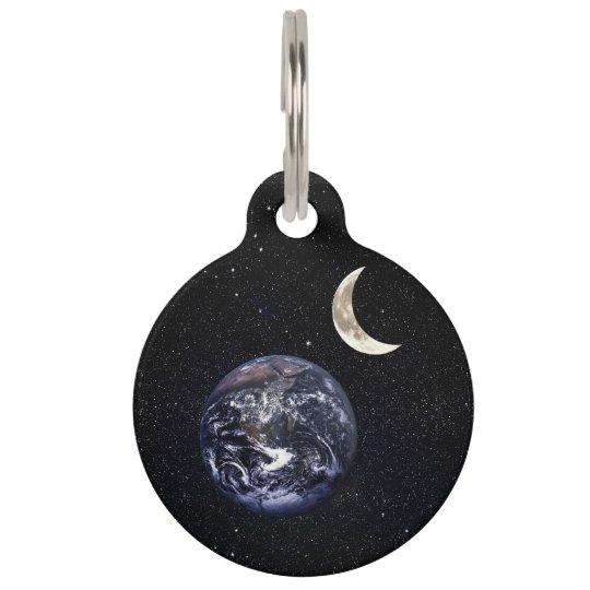 Earth Crescent Moom Majestic Starry Nebula Night Pet