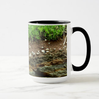 Earth cross section down to rock mug
