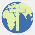 Earth Cross Sticker
