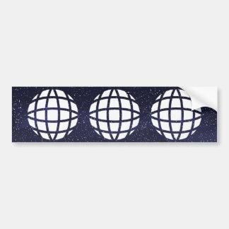 Earth Cubics Icon Car Bumper Sticker