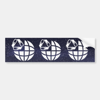 Earth Cycles Minimal Bumper Sticker