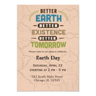 Earth Day 13 Cm X 18 Cm Invitation Card