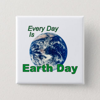 Earth Day 15 Cm Square Badge
