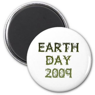 Earth Day 2009 6 Cm Round Magnet