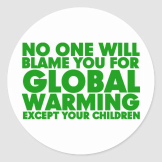 Earth Day 2009, April 22, Stop Global Warming Round Sticker