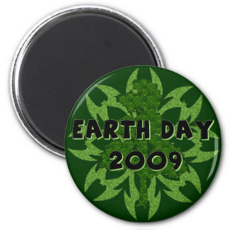 Earth Day 2009 Art 6 Cm Round Magnet