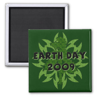 Earth Day 2009 Art Square Magnet