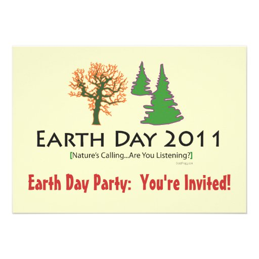 Earth Day 2011 Party Invitation