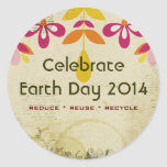 Earth Day 2014 Floral Abstract Stickers