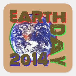 Earth Day 2014 Square Sticker