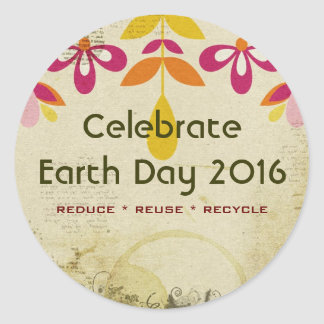 Earth Day 2016 Floral Abstract Stickers