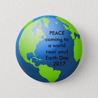 Earth Day, 2017 6 Cm Round Badge