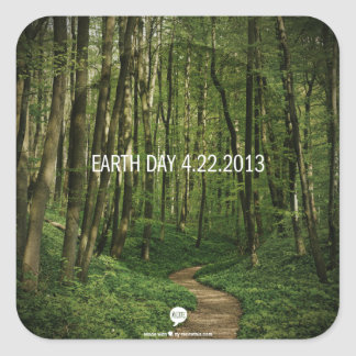 Earth Day 4.22.2013 Square Stickers