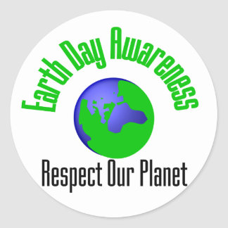 Earth Day Advocacy Round Sticker