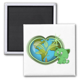 Earth Day and Blade Square Magnet