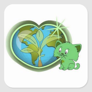 Earth Day and Blade Square Sticker