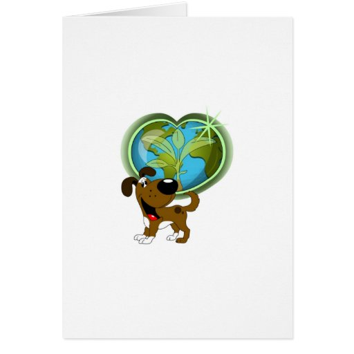 Earth Day and Boots Greeting Cards