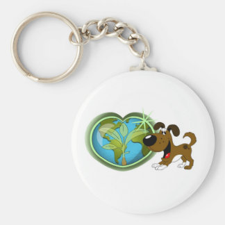 Earth Day and Boots Key Chain