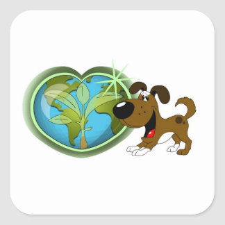 Earth Day and Boots Stickers