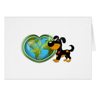 Earth Day and Bubba Greeting Card