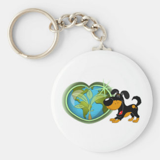 Earth Day and Bubba Key Chain
