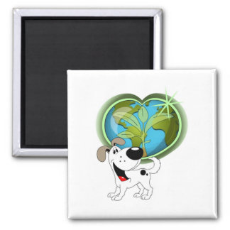 Earth Day and Cutie Square Magnet