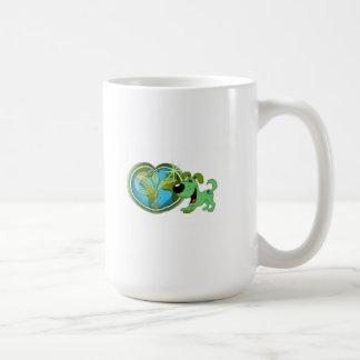Earth Day and Leaf Basic White Mug