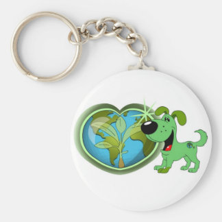 Earth Day and Leaf Key Chain