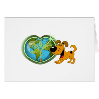 Earth Day and Pumpkin Card