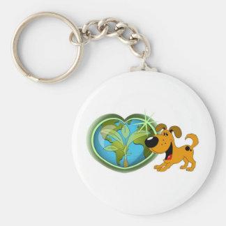 Earth Day and Pumpkin Key Chain
