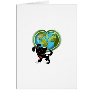 Earth Day and Shadow Greeting Card