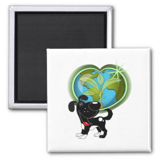 Earth Day and Shadow Fridge Magnet