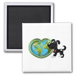 Earth Day and Shadow Refrigerator Magnet