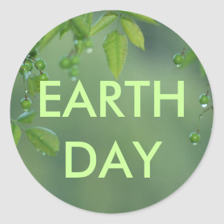 Earth day and think green sticker