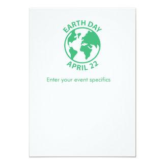 Earth Day, April 22 13 Cm X 18 Cm Invitation Card
