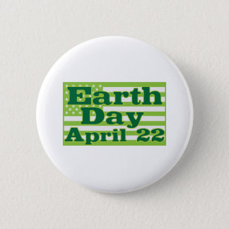 Earth Day April 22 6 Cm Round Badge