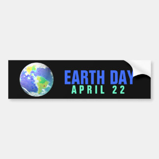 EARTH DAY APRIL 22 BUMPER STICKER