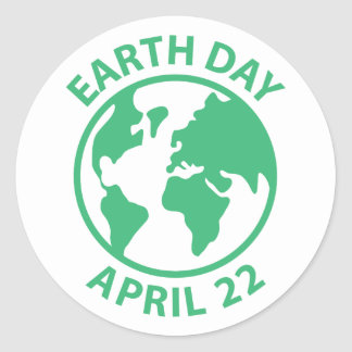 Earth Day, April 22 Classic Round Sticker