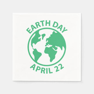 Earth Day, April 22 Disposable Napkins