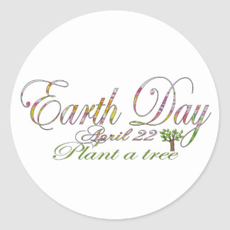 Earth Day April 22 Round Sticker