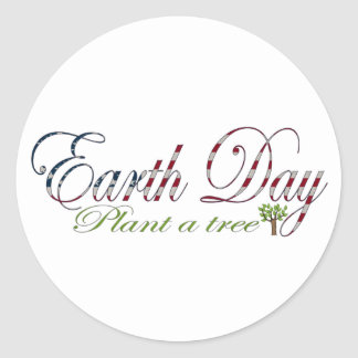 Earth Day April 22 Round Sticker
