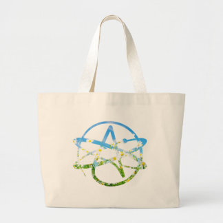 Earth Day Atheist Symbol Large Tote Bag