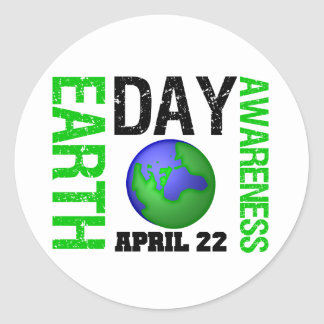 Earth Day Awareness Stickers