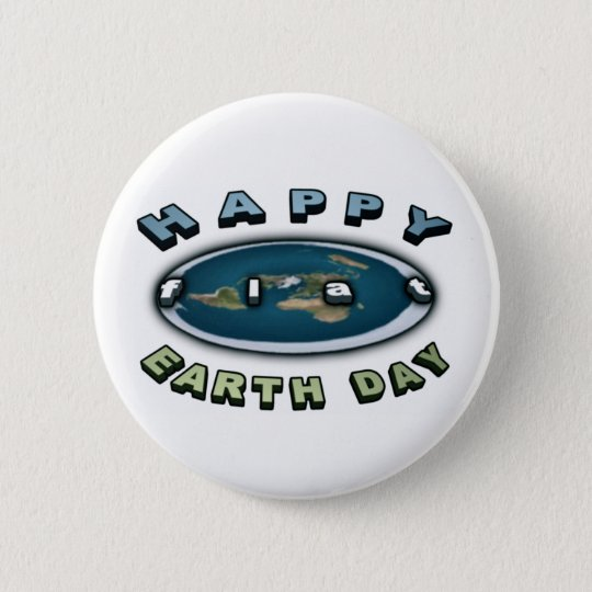 Earth day Badge Happy FLAT earth day Badge