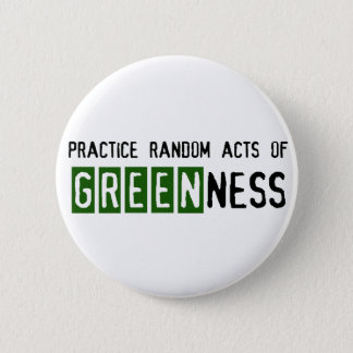 Earth Day - Be Green 6 Cm Round Badge