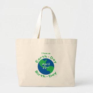 Earth Day Birthday Jumbo Tote Bag