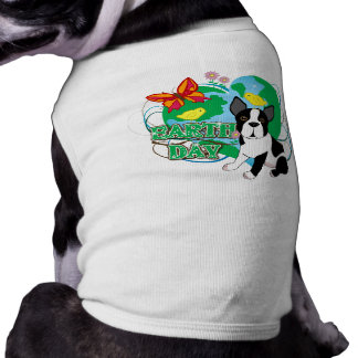 Earth Day Boston Terrier Dog T-shirt