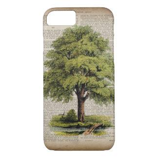 earth day botanical art vintage oak tree iPhone 7 case