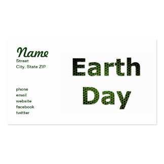 Earth Day Pack Of Standard Business Cards